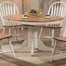 Antique  Inch Round Oak Pedestal Claw Foot Dining Room Table - Round pedestal dining table in antique white
