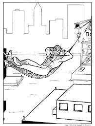 spider man color cartoon color pages printable cartoon