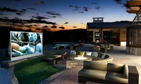 set up a backyard cinema
