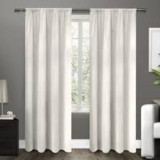 Winter Window Curtains Cotton Velvet Winter White Blackout Rod Pocket Top Window Curtain
