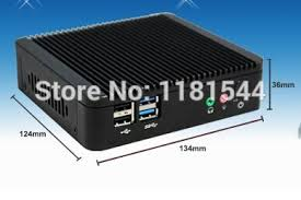 Case For Home Theater Pc by Small Nuc Type Metal Case Fanless Industry Mini Pc J1900 Computer