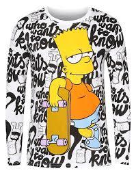 bart sweater the simpsons bart skateboard sweater