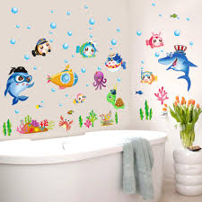 popular baby fish pictures buy cheap baby fish pictures lots from cartoon fish underwater world wall decal home sticker paper art picture diy murals kids nursery baby