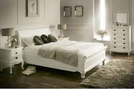 Wooden White Bed Frames La Louvier White Wooden Sleigh Bed Painted Wood Wooden Beds