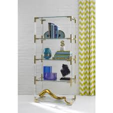 Lucite Bathroom Accessories by Jacques Brass Etagere Modern Furniture Jonathan Adler