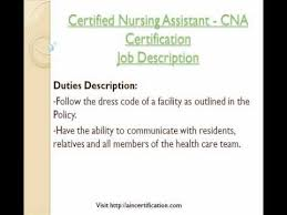 Sample Resume Of Nursing Assistant Nursing Assistant Nursing Assistant Job Description A Certified