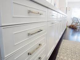 White Hut Kitchen by Exclusive A Chic Galley Kitchen Polished Nickel Drawers And