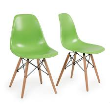 Molded Plastic Outdoor Chairs by Set Of 2 Green Plastic Molded Side Dining Chairs Modern Seats