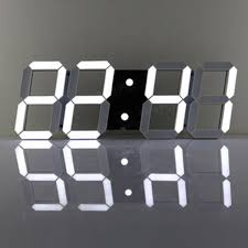 3d acrylic white large digital led skeleton wall clock timer 24 12