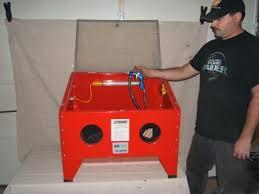 Used Blast Cabinet Sand Blasting Cabinet Tcsc1 Sandblast Cabinet The Inex 3048r