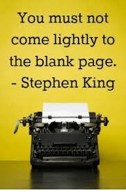 you must not come lightly to the blank page stephen king meme on me me