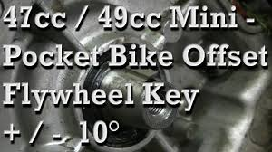 how to install and set offset flywheel key on 47cc 49cc pocket