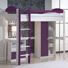 Chambre Ado Fille Avec Lit Mezzanine by Lit Avec Mezzanine Violet En Pin Lit Mezzanine Pinterest