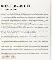 Organizing Or Organising Amazon Com The Discipline Of Organizing Mit Press