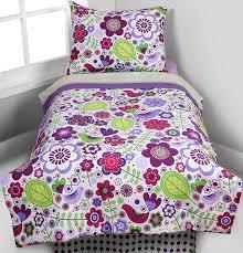 Purple Toddler Bedding Set Botanical Purple 4 Pc Toddler Bedding Set Baby