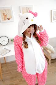 Hello Kitty Halloween Costume Adults Hellokitty Kigurumi Pajamas Anime Suits Cosplay Halloween