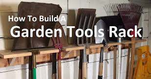 garden tools rack how to build an oldschool organizer youtube