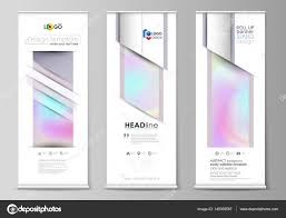 Stand Up Flag Banners Roll Up Banner Stands Flat Design Templates Abstract Geometric