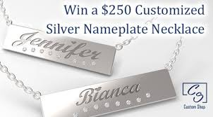 Silver Nameplate Necklace Win A 250 Customized Silver Nameplate Necklace Giveaway Frenzy