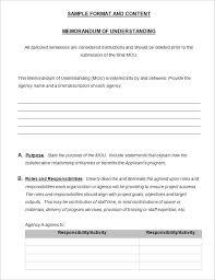 memorandum of understanding template word new 2017 resume format