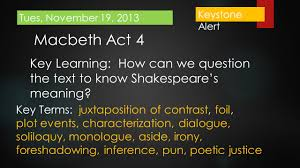 keystone alert mon november 18 2013 macbeth act 4 ppt download