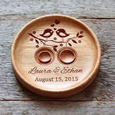 modern fish ring holder images Handmade custom wood wedding ring holder lovebirds ring bearer png