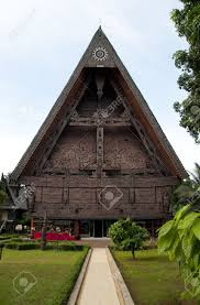 the traditional house of north sumatra indonesia stock photo