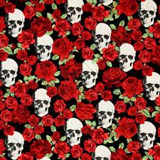 timeless treasures skulls and roses black fabric emerald city fabrics