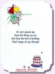 birthday card verses by moonstone treasures write it