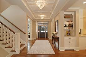crown molding lighting tray ceiling entrance ceiling design entry traditional with tray vault white