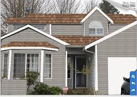 exterior paint colors brown roof google search curb appeal