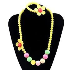 beaded butterfly bracelet images Unijew 5 colors kids girls necklace and bracelet set jpg
