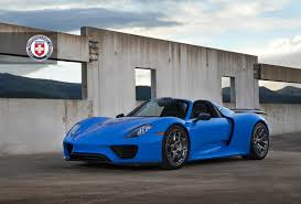 porsche spyder 918 voodoo blue porsche 918 spyder brings the magic on custom wheels