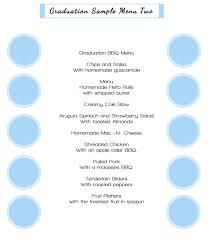Sample Buffet Menus by Graduation Menus Christian U0027s Catering