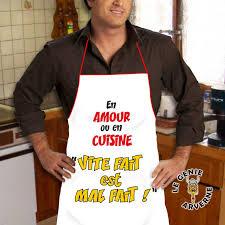 tablier de cuisine homme humoristique tablier vite fait mal fait