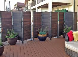 folding wicker partition screen outdoor privacy plus divider wall