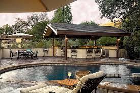 rustic outdoor kitchen ideas 12 backyard designs with pool and outdoor kitchen ismaya design