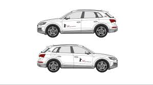audi logo black and white vehicle lettering