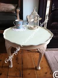 round coffee table shabby white ivory distressed finish new