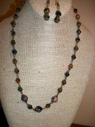 glass beads necklace images Sodalite and czech glass bead necklace by raggedydollsgem on zibbet JPG