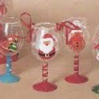 martini glass ornaments decore