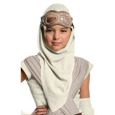 buy star wars the force awakens rey eye mask with hood for girls