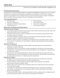 Free Sample Resumes For Customer Service by 100 Resume Customer Service Sample Customer Service Manager