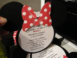 minnie mouse invitation handmade by odette llc