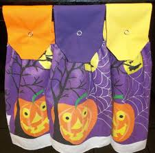 hanging kitchen towels halloween pumpkins 292243134423