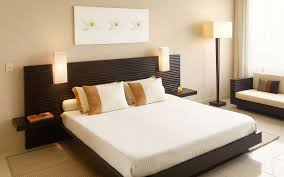 bed design with side table black wooden bed with white sheet and black wooden headboard and
