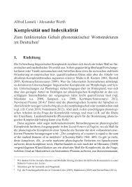 Wellmann K Hen Komplexität Und Indexikalität Zum Funktionalen Gehalt
