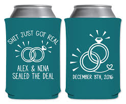wedding koozie just got real 1a collapsible custom coolers wedding favors