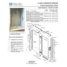 Mirolin Shower Door Mirolin Hds48psr Hinge Shower Door Plain Silver Home