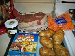 crock pot roast with potatoes and carrots newlyweds